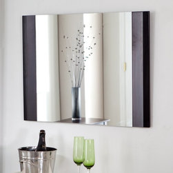 Decor Wonderland - Frameless Chase Wall Mirror - 31.5W x 23.5H in. Multicolor - SSM83 - Shop for Bathroom Mirrors from Hayneedle.com! The Chase Wall Mirror is a stunning way to reflect your sense of style. This beautiful rectangular mirror has an elegant style that will accent any home. Constructed of metal and strong 3/16 glass this mirror features sides framed in lush dark wood. Mounting hardware is included with the mirror which mounts in a horizontal position. Weighs 14 pounds. Dimensions: 31.5W x 23.5H x .5D inches.