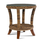 WickerParadise - St. Kitts Collection, Sea Grass End Table - This shapely end table adds a touch of the tropics to your decor. Crafted of woven sea grass yet classic enough to mix with your other contemporary pieces, it adds interest and texture to your favorite casual setting.