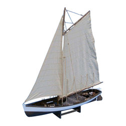 """Handcrafted Model Ships - Big Game Fishing 28"""" - Wooden Model Fishing Boat - Not a model ship kit"""
