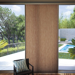 Vertical Window Treatments - Hunter Douglas Applause Vertiglide shades in the living room.