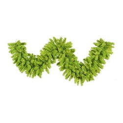 Vickerman 9 ft. Flocked Lime Pre-lit Garland - Give your holiday decor a modern twist with the, the Vickerman 9 ft. Flocked Lime Pre-lit Garland. Pre-lit with mini green lights and perfect for your mantle, staircase, or porch, this beautiful garland measures 9-feet long, making it versatile as well beautiful. About VickermanThis product is proudly made by Vickerman; a leader in high quality holiday decor. Founded in 1940; the Vickerman Company has established itself as an innovative company dedicated to exceeding the expectations of their customers. With a wide variety of remarkably realistic looking foliage; greenery and beautiful trees; Vickerman is a name you can trust for helping you create beloved holiday memories year after year.
