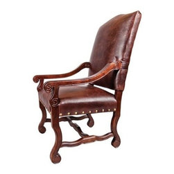 EuroLux Home - New Pair Arm Chairs Old Tannery Brown - Product Details