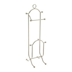 Taymor - Magazine Rack Toilet Tissue Holder, Chrome - The Combination Magazine Rack & Toilet Tissue Holder is a great 2-in-1 item for the bathroom.