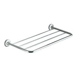 Gedy - Polished Chrome 23 Inch Towel Shelf - Modern style wall mounted bath towel shelf.