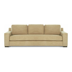 """Niagara Sofa - Dimensions: 96""""W x 38""""D x 34""""H. Arm Height: 22.5"""". Seat Height: 19"""". Seat Depth: 20""""Available in 2 sizses; Custom Inquiries Invited."""