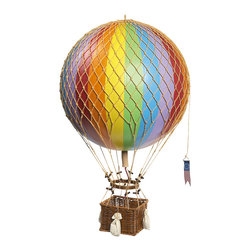 Authentic Models - Authentic Models AP163E Royal Aero, Rainbow - Helium balloons were one of aviation's first successes. Since 1783, balloons have traveled the skies, often in unintended directions. Hand applied balloon strips. Hand woven netting and basket. Wooden toggles and sand bags.
