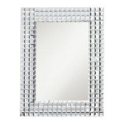 "WESTWOOD - WESTWOOD Bling Rectangular Mirror X-12187 - Mirror Size: 19"" x 28.5"""