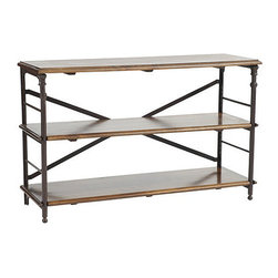 Ballard Designs - Toulouse Low Bookcase - An office always needs storage and shelving. This unit is wonderful for books, magazines and decorative boxes.