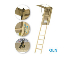 Fakro - LWN (OLN) 22 1/2x54 Wooden Basic Attic Ladder 25... - LWN (OLN) 22 1/2x54 Wooden Basic Attic Ladder 25...