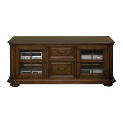 Riverside Furniture - Cantata 65 in. TV Console - With a traditional appeal and superb craftsmanship, our Cantata theater collection adds style and comfort to your entertainment possibilities.