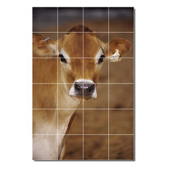 Picture-Tiles, LLC - Farm Animals Photo Wall Tile Mural 130 - * MURAL SIZE: 48x32 inch tile mural using (24) 8x8 ceramic tiles-satin finish.