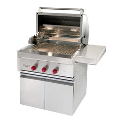 """Wolf 30"""" Built-in Gas Grill, Classic Stainless Natural Gas 