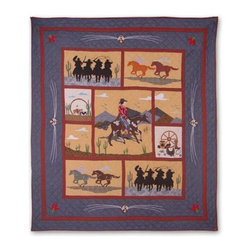 Patch Quilts - Shadow Rider Twin Quilt - -Constructed of 100% Cotton  -Machine washable; gentle dry  -Made in India Patch Quilts - QTSHRD