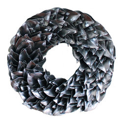 Magnolia Company - Silver Lacquer Wreath, 23x23 - This fun wreath is hand made of dried magnolia leaves. It will last for many seasons and will be the talk of your neighborhood. If used outdoors, it can be displayed in direct sunlight. Please keep out of direct moisture.