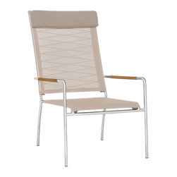 Mamagreen - Mamagreen Natun Hemp High Back Chair - The Natun Hemp High Back Chair stylish stainless steel 304 frame combined handwoven weather resistant synthetic fibers with batyline sling.