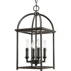 Amazon.com: Progress Lighting P3884-20 4-Light Piedmont Foyer Lantern, Antique B