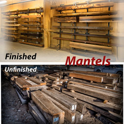 mantels - With over 750 documented reclaimed wood mantels, it's hard not to find the perfect mantel for any application! Each piece has its own history and characteristics. They are one of a kind! Check them out at http://www.trestlewood.com/shop/mantels/.  Photo by June Cannon, Trestlewood