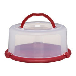 Chefmate Round Cake Carrier - Get it there in one piece with this cake carrier. This works for casseroles, too!