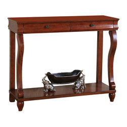 All Things Cedar - Console Entry Table - Classic Accents: A truly inviting selection of Classic Accent Furniture FEATURING Console Sofa Tables Wooden Wine Magazine Racks, Nesting Tables, and Glass Cherry Curio Cabinates. Item is made to order.