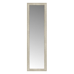 """Posters 2 Prints, LLC - 14"""" x 47"""" Libretto Antique Silver Custom Framed Mirror - 14"""" x 47"""" Custom Framed Mirror made by Posters 2 Prints. Standard glass with unrivaled selection of crafted mirror frames.  Protected with category II safety backing to keep glass fragments together should the mirror be accidentally broken.  Safe arrival guaranteed.  Made in the United States of America"""