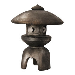 OrlandiStatuary - Pagoda Yukimi Japanese Statue - Features: -Material: Fiber stone.-Mixture of stone cast directly into the surface, then reinforced with a fiberglass backing.-Carefully stained to give the appearance of age.-Lightweight, extremely durable, less fragile than concrete.-Handmade and outdoor safe.-Made in the USA.-Ornaments collection.-Seams from manufacturing may be minimally visible..-Distressed: Yes.-Country of Manufacture: United States.Dimensions: -Dimensions: 21'' H x 16'' W x 16'' D.-Overall Product Weight: 12 lbs.
