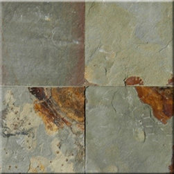 "Earth Cleft Finish Slate Floor & Wall Tiles 16"" x 16"" - 16"" x 16"" Earth Cleft Finish Slate Floor and Wall Tile is a beautiful tile to install on a wall, floor or kitchen countertop in your home. The tile is frost resistant, so it ft.s a great option for outdoor installations. It is marginally skid resistant and recommended for standard residential applications. The rustic-style tile is made of natural slate stone, and it features a textured, low-sheen surface."
