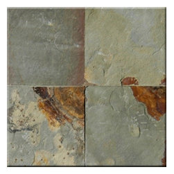 """Earth Cleft Finish Slate Floor & Wall Tiles 16"""" x 16"""" - 16"""" x 16"""" Earth Cleft Finish Slate Floor and Wall Tile is a beautiful tile to install on a wall, floor or kitchen countertop in your home. The tile is frost resistant, so it ft.s a great option for outdoor installations. It is marginally skid resistant and recommended for standard residential applications. The rustic-style tile is made of natural slate stone, and it features a textured, low-sheen surface."""