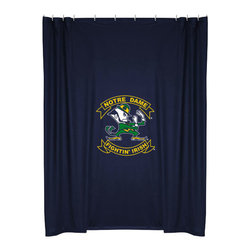 Sports Coverage - NCAA Notre Dame Irish College Bathroom Accent Shower Curtain - Features: