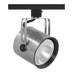 Juno Lighting - Trac-Master T425 Mini PARs Flat Back PAR30 Track Light, T425b-Sc - Designed especially for halogen PAR lamps. The Mini-PAR's compact shape and slotted yoke make it ideal for today's high styled applications.