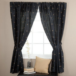 Ellis Curtain - Ellis Curtain Fleur De Lis Lined Curtain Panel - FLEUR-50X84-BLACK - Shop for Curtains and Drapes from Hayneedle.com! About A.L. Ellis Inc.Established in 1920 by Arthur Linwood Ellis A.L. Ellis Inc. is a 5th generation family owned and operated manufacturing company. With their headquarters located less than an hour away from the manufacturing facility they can easily control the wholesale business and produce their mail order catalogs. Their hand-made products consist of curtains draperies top treatments bedding toss pillows and chair pads. The main objective for A.L. Ellis Inc. is to always provide customers with high-quality products at a competitive price and in a timely manner. Remaining committed to the customer A.L. Ellis Inc. is a trusted company you can count on. Begin decorating your house with any of their products!
