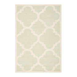 """Safavieh - Cora Hand Tufted Rug, Light Green / Ivory 2'6"""" X 10' - Construction Method: Hand Tufted. Country of Origin: India. Care Instructions: Vacuum Regularly To Prevent Dust And Crumbs From Settling Into The Roots Of The Fibers. Avoid Direct And Continuous Exposure To Sunlight. Use Rug Protectors Under The Legs Of Heavy Furniture To Avoid Flattening Piles. Do Not Pull Loose Ends; Clip Them With Scissors To Remove. Turn Carpet Occasionally To Equalize Wear. Remove Spills Immediately. Bring classic style to your bedroom, living room, or home office with a richly-dimensional Safavieh Cambridge Rug. Artfully hand-tufted, these plush wool area rugs are crafted with plush and loop textures to highlight timeless motifs updated for today's homes in fashion colors."""
