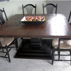 60 x 60 Square Farm Table - Made by www.ecustomfinishes.com