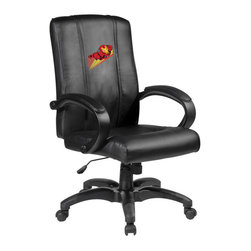 Dreamseat Inc. - Iron Man Soaring Home Office Chair - Check out this awesome - it's one of the coolest things we've ever seen. Features a zip-in-zip-out logo panel embroidered with 70,000 stitches. Converts from a solid color to custom-logo furniture in seconds - perfect for a shared or multi-purpose room. Root for several teams? Simply swap the panels out when the seasons change. This is a true statement piece that is perfect for your Man Cave or Home Office, and it's a must-have for the person who wants to personalize their work space.