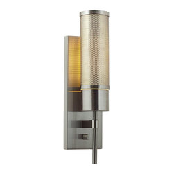Access Lighting - Access Lighting Iron Modern / Contemporary Wall Sconce with On/Off Switch X-LPO/ - Save your castle with this radiant flambeau that we call a contemporary wall pendant. The opal glass shade recalls the romance of candlelit evenings and cavalier fun. This fixture looks incredible in your foyer, pantry, bungalow, apartment, lounge, kitchen, office, apartment, den, hall, hacienda, or tree fort. The brush steel glimmers and provides snazzy verve and pepper.