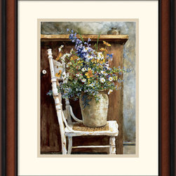 Amanti Art - Morning Arrangement, 1987 Framed Print by Patton Wilson - A painter in the realist tradition, Patton Wilson combines conventional painting techniques with perceptive twists in composition.