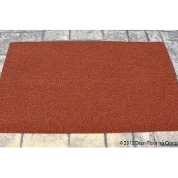 Dean Flooring Company - Dean Indoor/Outdoor Walk-Off Entrance Carpet Door Mat/Rug - Terra Cotta - 4' x 6 - Dean Indoor/Outdoor Walk-Off Entrance Carpet Door Mat/Rug - Terra Cotta - 4' x 6' : Dean Indoor/Outdoor Walk-Off Entrance Door Mat/Rug by Dean Flooring Company. Color: Terra Cotta. Face: 100% Hi UV stabilized polypropylene fiber. Backing: All weather non-skid latex rubber. Edges: Will not ravel or delaminate. Size: 4'x6'. Fade resistant Commercial or residential. Easy to clean (hose off, sweep, vacuum). Made in the USA! Add a touch of warmth and style to your home today with entrance mats from Dean Flooring Company!