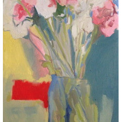 """""""Carnations From Down The Street"""" (Original) By Jessica Weinberg - I Want To Blend Classical Ideals And Melodramatic Abstractions."""