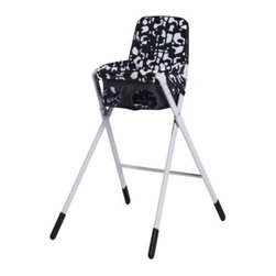 W Braasch/E Portinson - SPOLING Highchair with safety belt - Highchair with safety belt, black, white