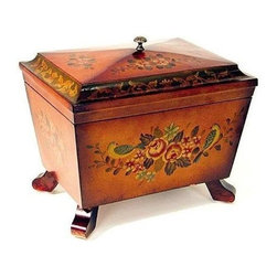 Wayborn - Hand Painted Box w Moldings - Storage box with moldings. Cedar plywood. Smooth finish. 14.5 in. L x 10 in. W x 11 in. H (9 lbs.)