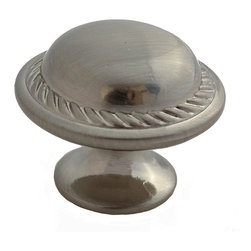 GlideRite - GlideRite 1.125-inch Satin Nickel Round Rope Cabinet Knobs (Case of 25) - Update your kitchen cabinets or bathroom vanities with these beautiful solid die-cast zinc alloy satin nickel round rope cabinet,dresser or drawer knobs. These cabinet knobs come in a case of 25 and include an installation screw.