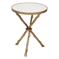 Twig Table Brass & White Marble - http://www.highfashionhome.com/twig-table--brass---white-marble.html