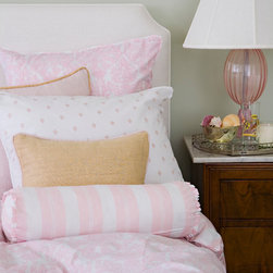 Brocade Peony Bedding - Adorned with style from a royal court, the Brocade Peony Collection effortlessly mixes casual refinement with romantic hues. The pattern creates an atmosphere of the classic romantic salon, where elegance and and style are paramount.