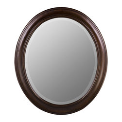 Cooper Classics - Chelsea Oval Mirror - Chesapeake White Finish with Beveled Mirror, 26 In W x 30 In H