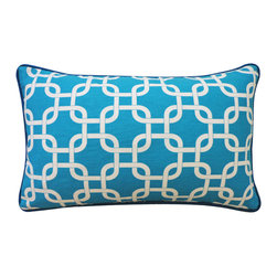 Jiti - Mechanical Teal Pillow - Jazz up your home decor with our Mechanical Teal Pillow!  Made from 100% Cotton. Invisible Zipper. DRY CLEAN ONLY. Insert is made of 95% feathers and 5% down.