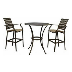 Panama Jack Island Breeze 3-Piece Pub Table Set