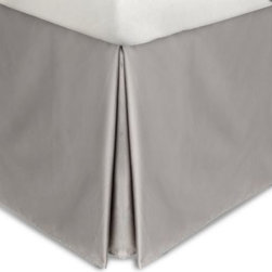 Calvin Klein - Calvin Klein Acacia 280T Cotton Cal King Bedskirt Quarry (Gray) 72 x 84 - Luxurious long staple Supima cotton lends this bedskirt exceptional softness and drape. Vat-dyed for lasting color, it's the perfect finishing touch for your bedding ensemble.