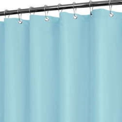 Watershed - Park B. Smith Dorset Solid Light Blue 72-Inch x 72-Inch Watershed Shower Curtain - Park B. Smith's solid-colored fabric shower curtain is both a stylish and practical bathroom accessory. This WaterShed curtain doesn't need a liner, repels water, and resists mold and other allergens.