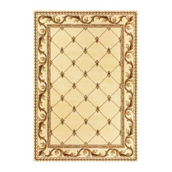 """Kas Rugs - Area Rug: Fleur-De-Lis Ivory 2' 3"""" x 3' 3"""" - Shop for Flooring at The Home Depot. This series uses heat-set yarns and hand carved with specific attention to detail. This line features classic Aubusson floral patterns, a look usually found only in traditional hand knotted collections. This timeless classic has been designed with today's colors in mind, bringing a beautiful blend of yesterday and today in your home."""