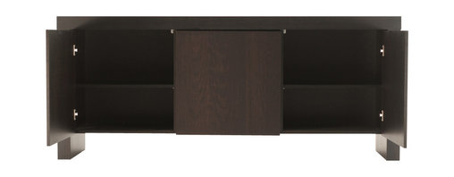 Tema Home - Kobe 3-Door Sideboard - Chic and versatile, this three-door sideboard, in wenge color, is a sleek solution to your storage woes. Store serving trays, barware, toys or trinkets effortlessly behind its doors and turn dining room clutter into clean modern order.