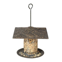 "Whitehall Products LLC - 12"" Cardinal Tube Feeder - Oil Rub Bronze - Features:"